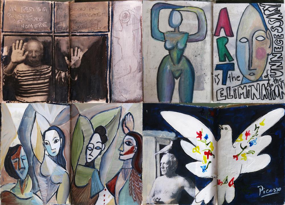 Homage to Picasso journal- - Galia Alena