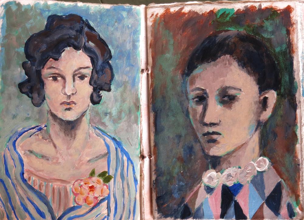 Picasso inspired art journal - Galia Alena