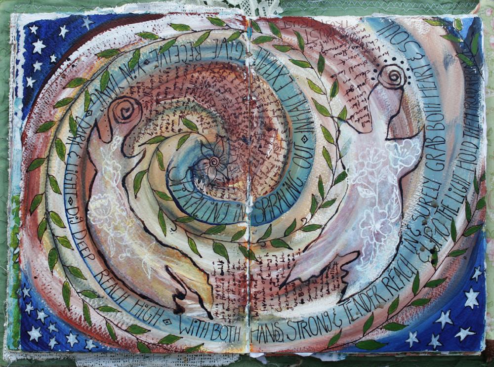 Mandala Spirits art journal  - Galia Alena