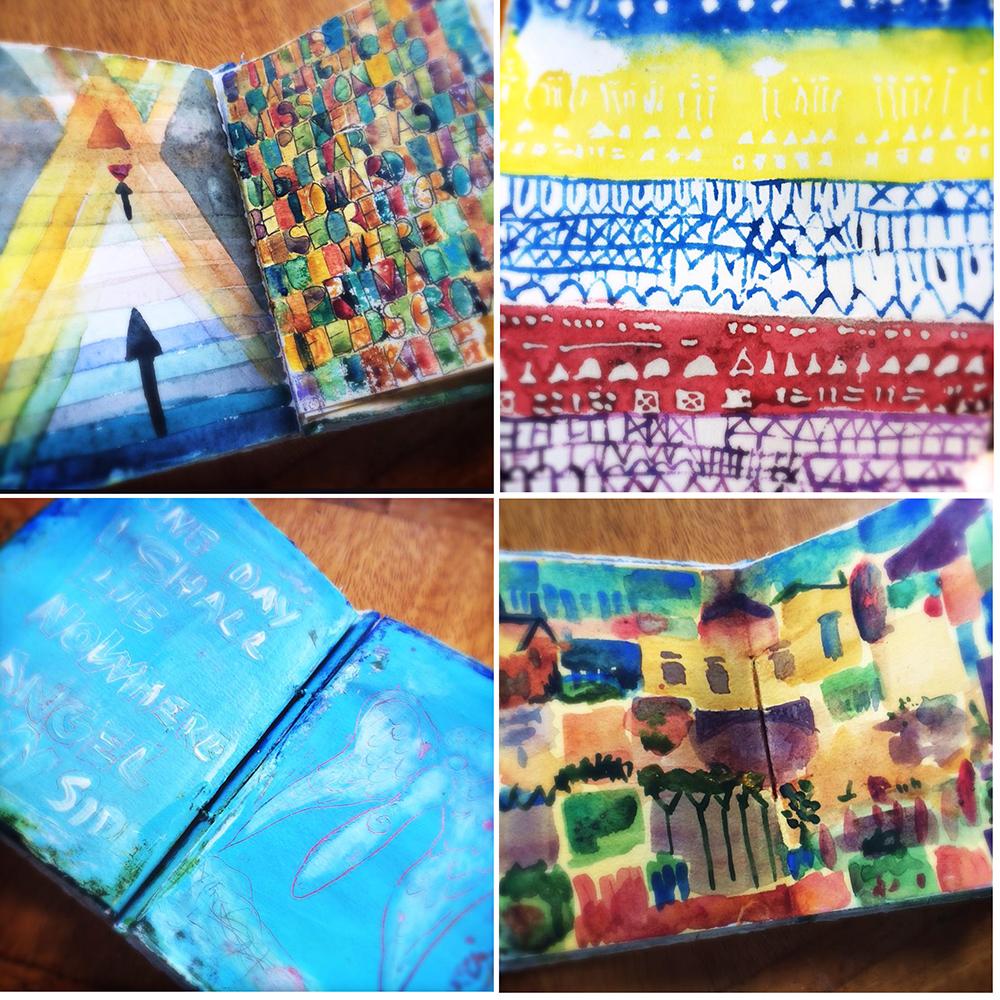Klee homage art journal  - Galia Alena
