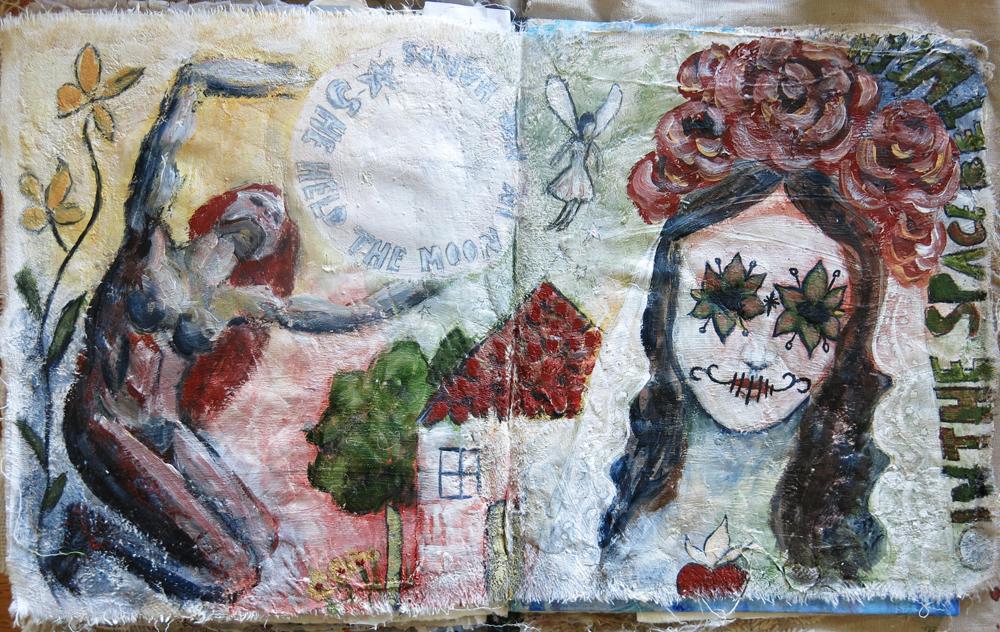 Day of the Dead art journal  - Galia Alena