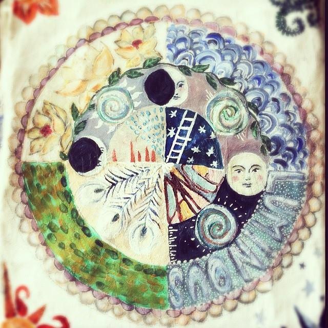 Mandala journal page - Galia Alena