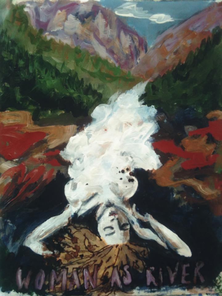 Woman as River, art journal  - Galia Alena
