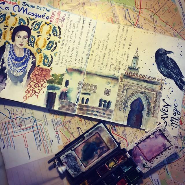 Le Mosque Paris travel journal page - Galia Alena