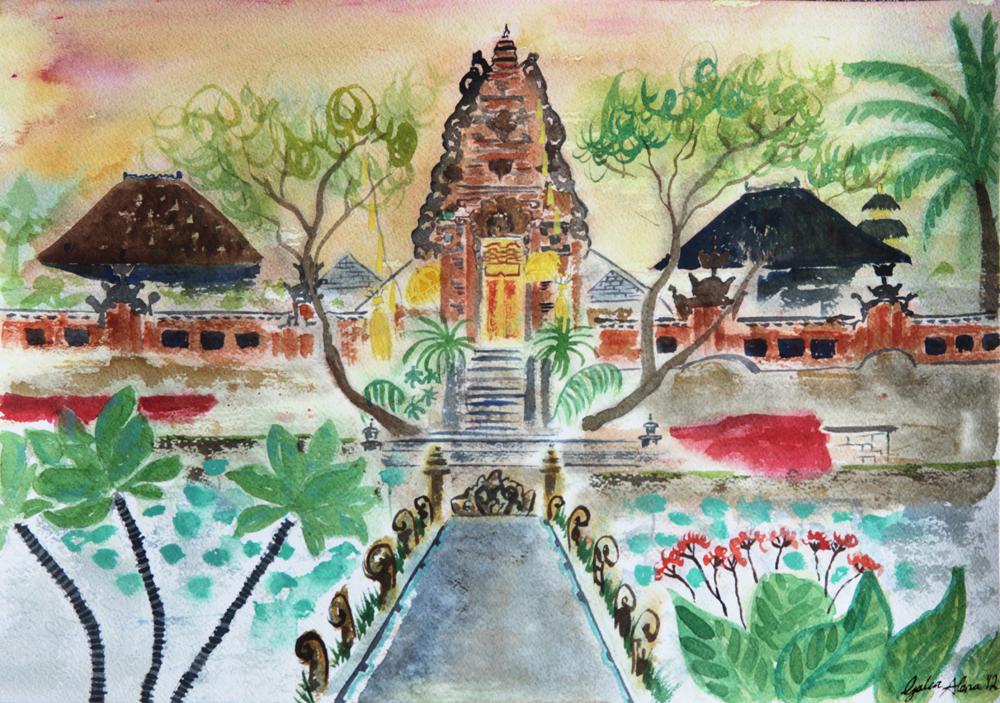 Ubud, Bali Travel journal page - Galia Alena