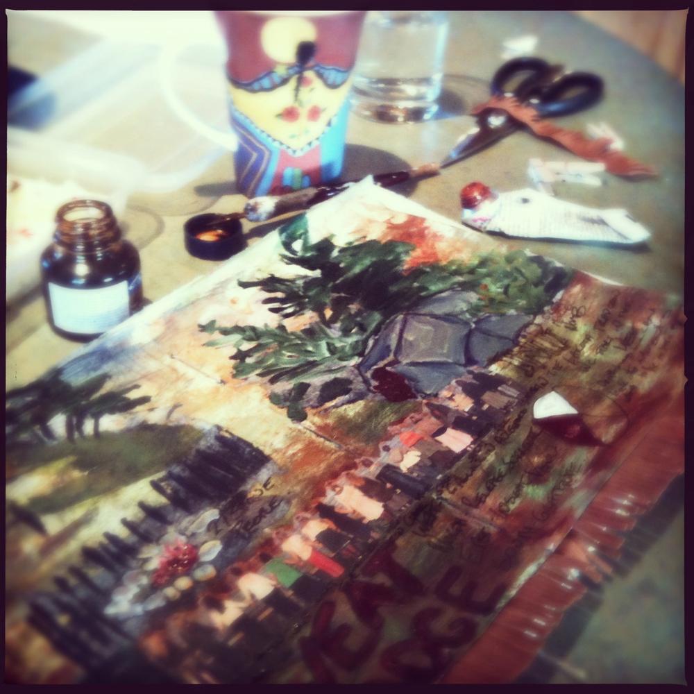Sweat Lodge, Easlen, visual journal - Galia Alena
