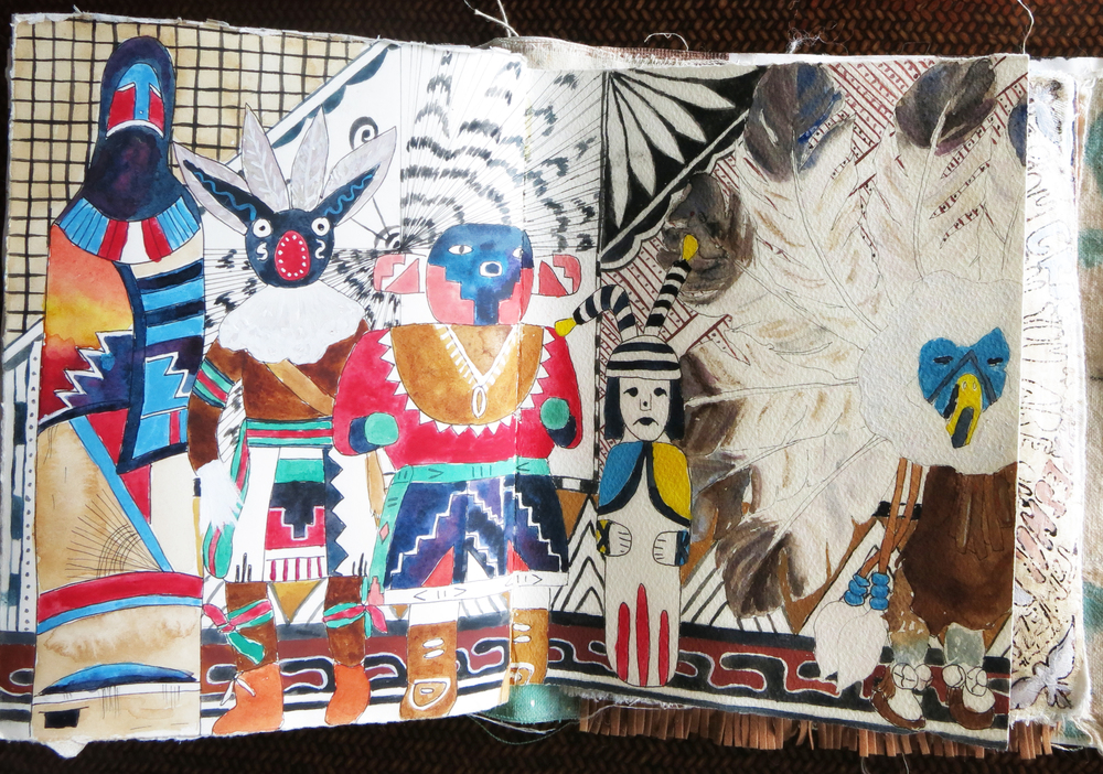 Native American Art travel journal - Galia Alena