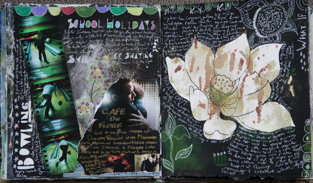 Galia Alena, art journal, journalling, mixed media, journal pages