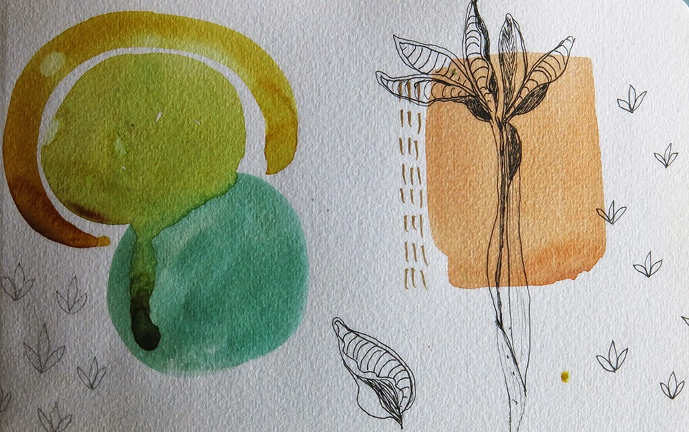 Galia Alena mixed media artist field notes