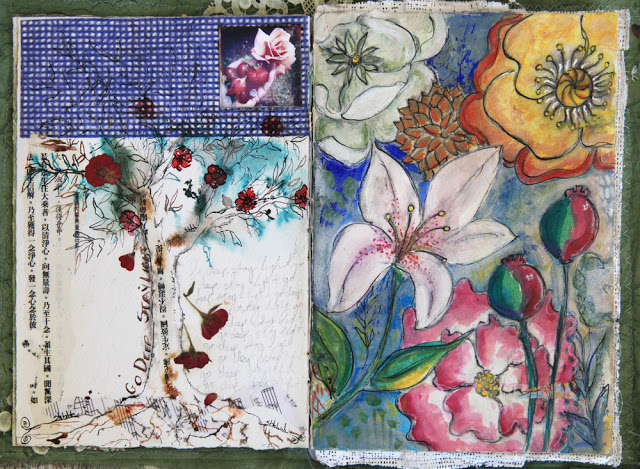 Galia Alena, art journal pages