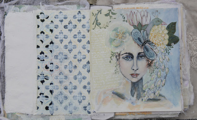 mixed media art journalling