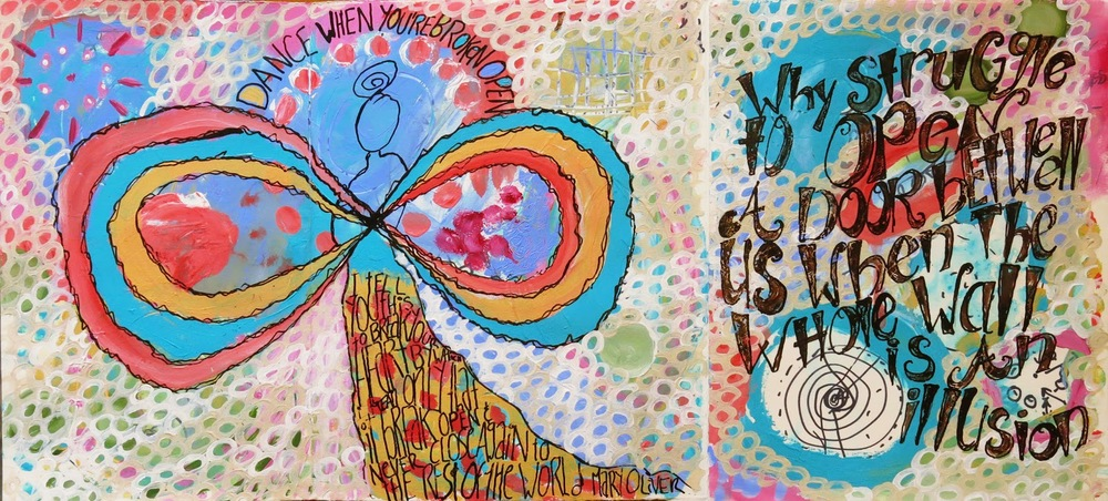 Galia Alena mixed media art journal Spectrum