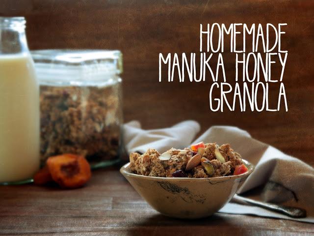 Manuka Honey Granola Recipe, Galia Alena Photography