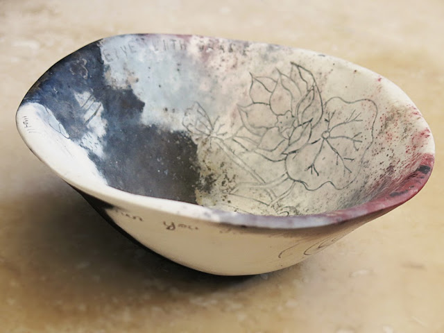 Galia Alena ceramic bowl pit fire
