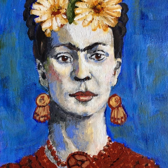 Frida Kahlo, Painting Galia Alena