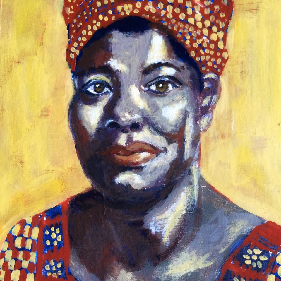 Maya Angelou, Painting Galia Alena