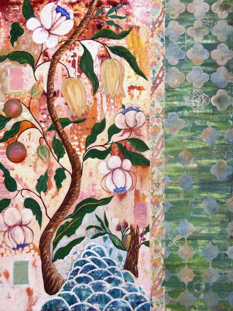 galia alena, mixed media art, painting