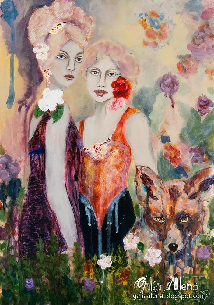 Shape shifters Galia Alena painting