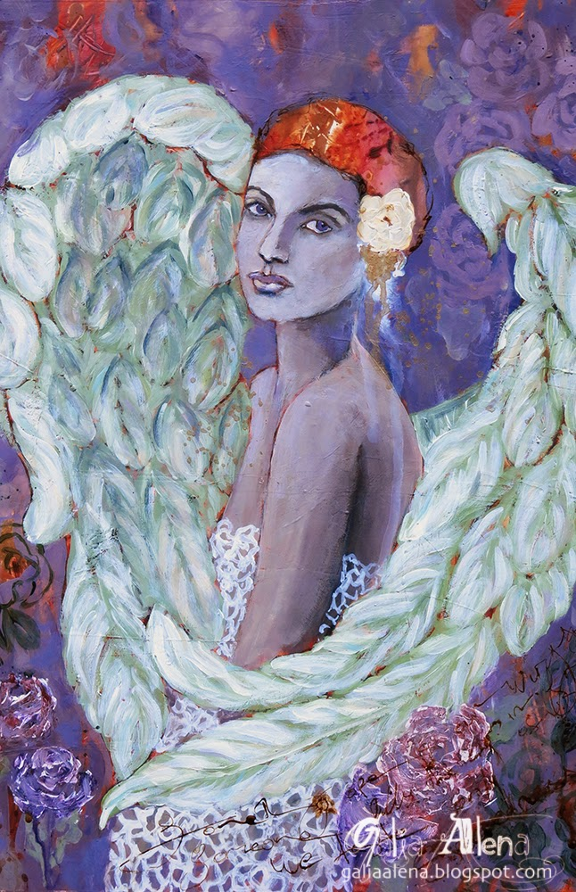 Galia Alena mixed media painting