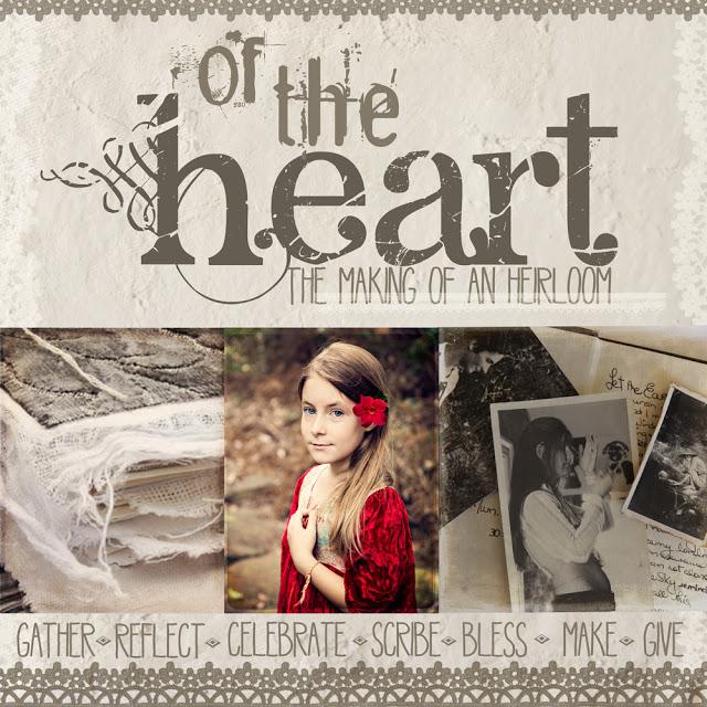 Of the Heart, mixed media e-course, menarche, journal making, Galia Alena
