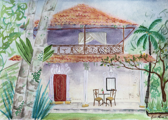Galia Alena, water colour, Bali