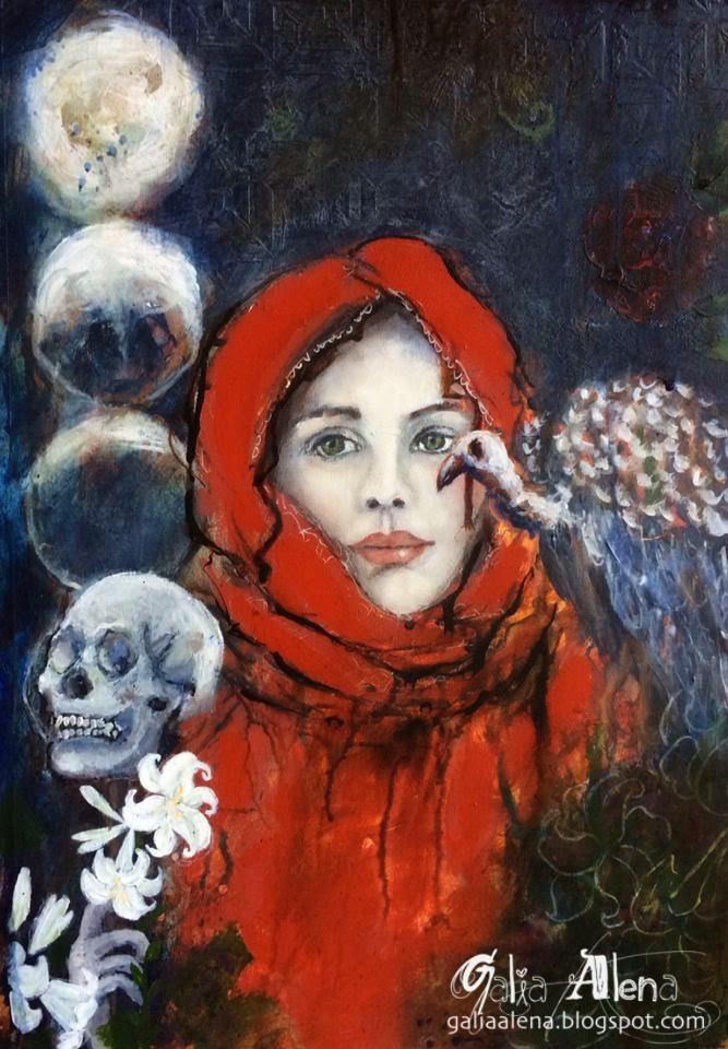 Galia Alena mixed media art Shadow Gardener