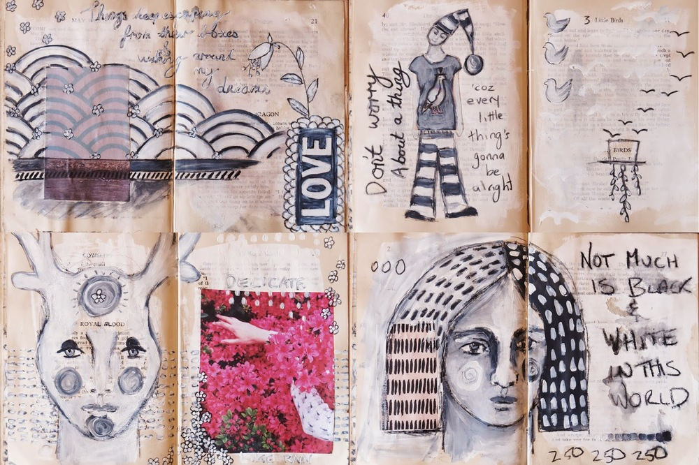 Fleeting Altered Book Galia Alena, mixed media journal
