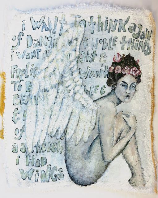 As if I had Wings, Galia Alena, mixed media painting