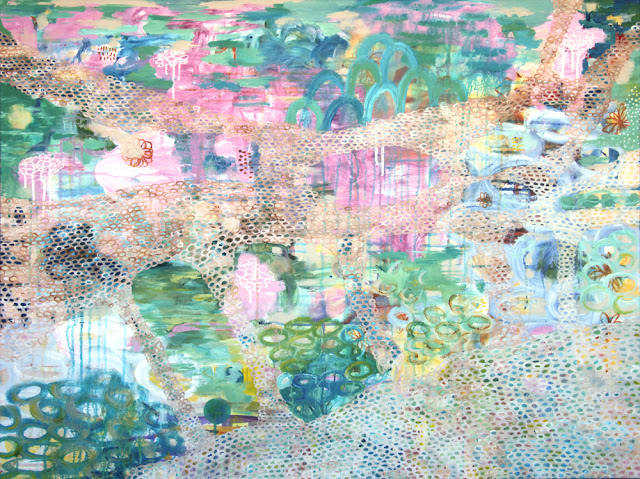 Wip painting, Galia Alena Mixed Media Artist