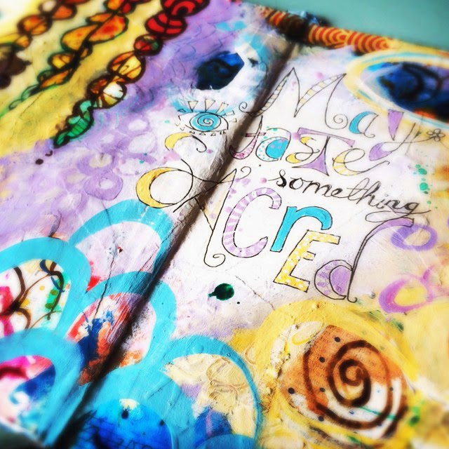 Spectrum mixed media art journaling workshop
