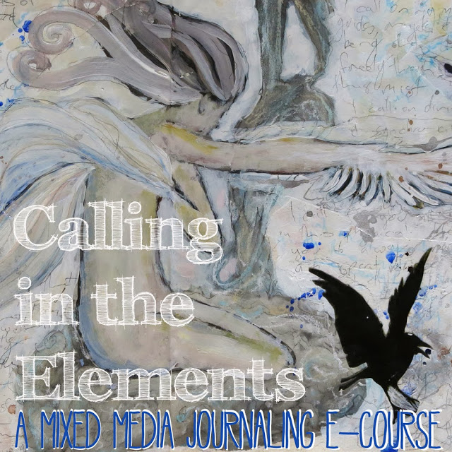 Calling in the Elements- a mixed media journaling e-course by Galia Alena