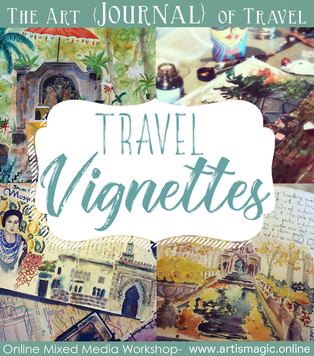 Travel Vignettes- The Art {Journal} of Travel