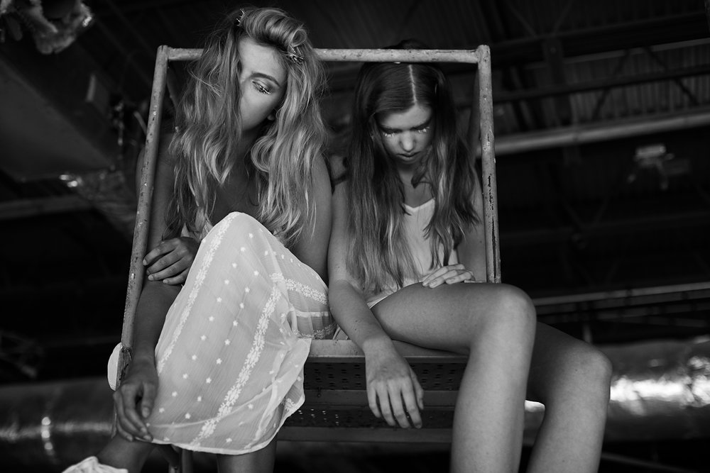 Model Claire Layman and Leah Peterson best - Fashion Editorial - best Los Angeles Photography