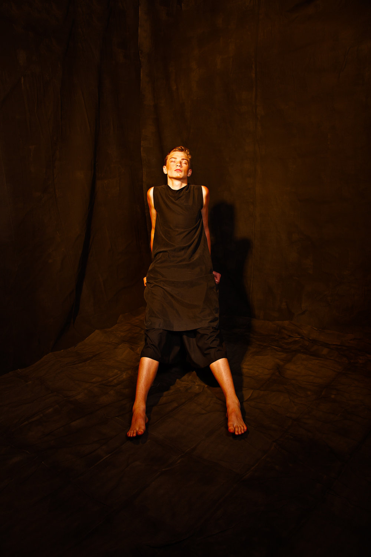 Next model Joe Juhala - Fashion Editorial - All black