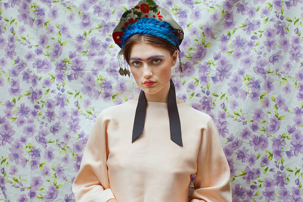Kat-Kaye-Lacey-Claire-iconic-icons-frida-kahlo-fashion-shoot-unibrow-braids-portrait.jpg
