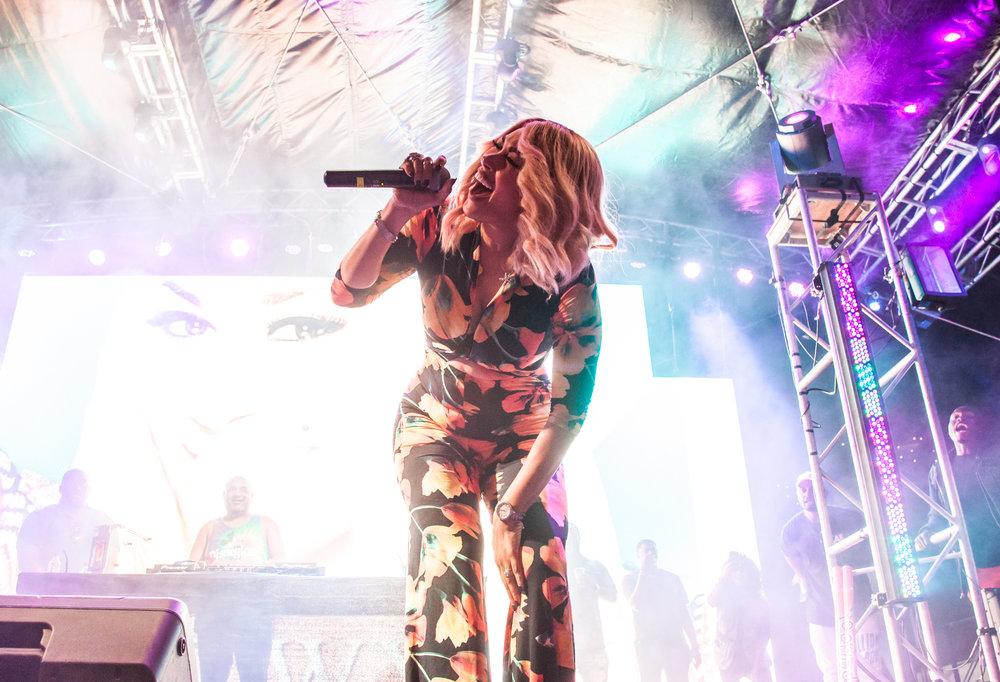 Keke Wyatt at LA Pride 2018. Photo by Kat Kaye.