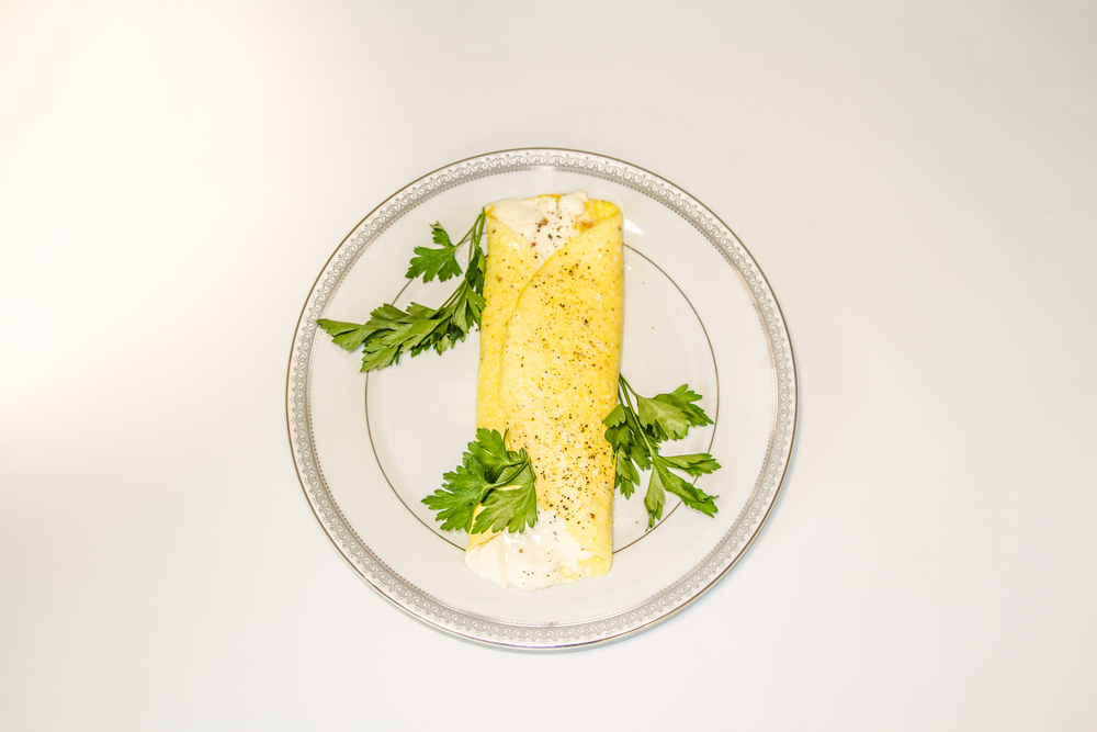 French omelet made with Cafe' Luxe stainless steel made with Cafe' Luxe best milk frother and foam maker