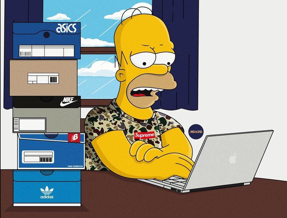 Fuccboi Homer Simpson. 📷: Olga Wójcik