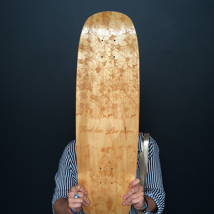 Chloé and her board