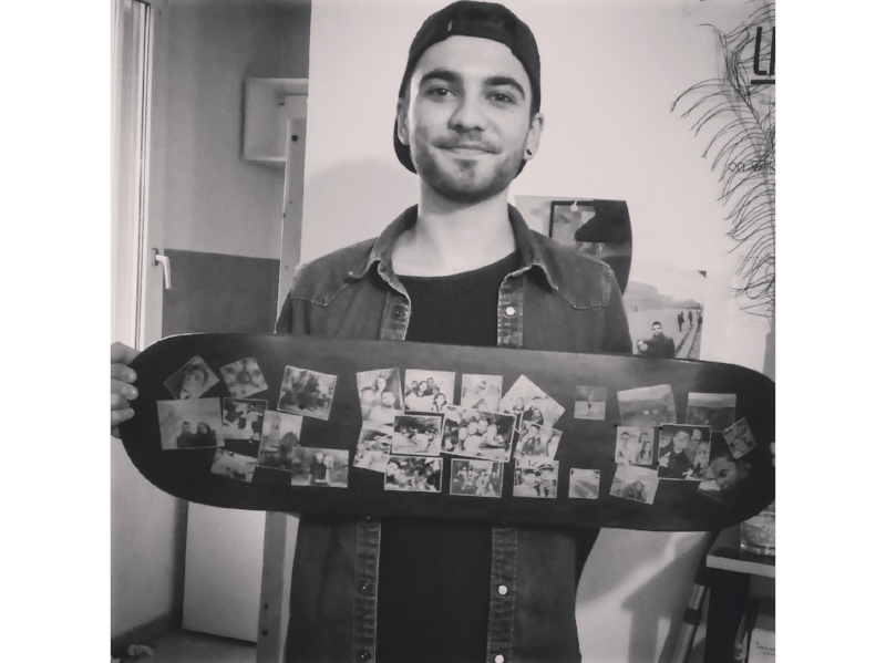customized skateboard