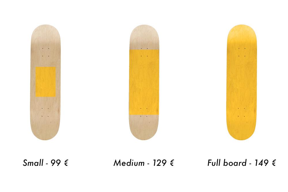 skateboard personnalisé prix