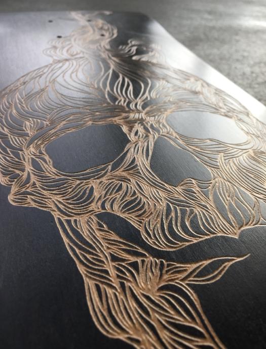 FKM tattoo skateboard collab le shape zoom