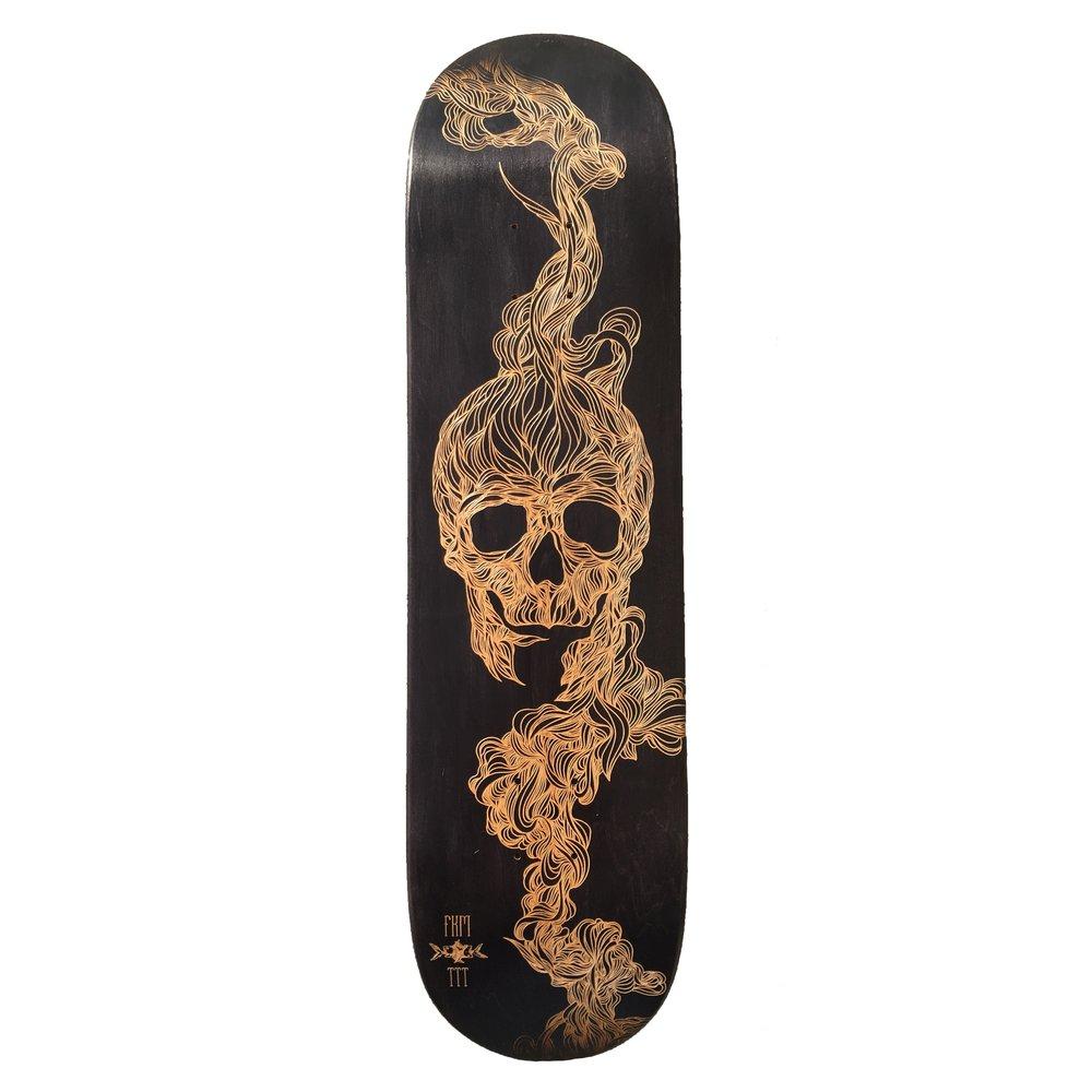 FKM tattoo skateboard collaboration 1