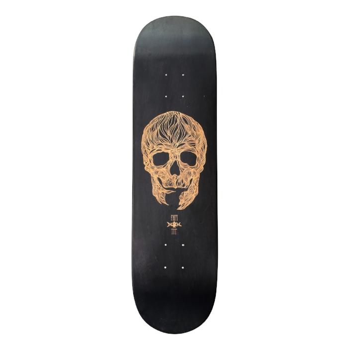 fkm tattoo skateboard collaboration 2 with le shape
