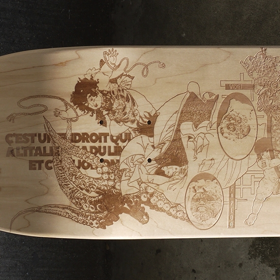 custom skateboard manon
