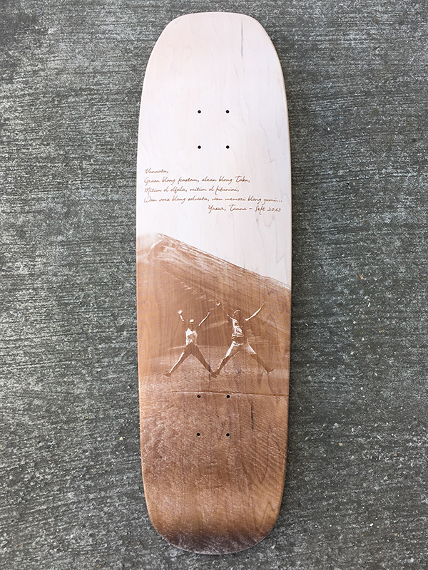 Custom skateboard photo