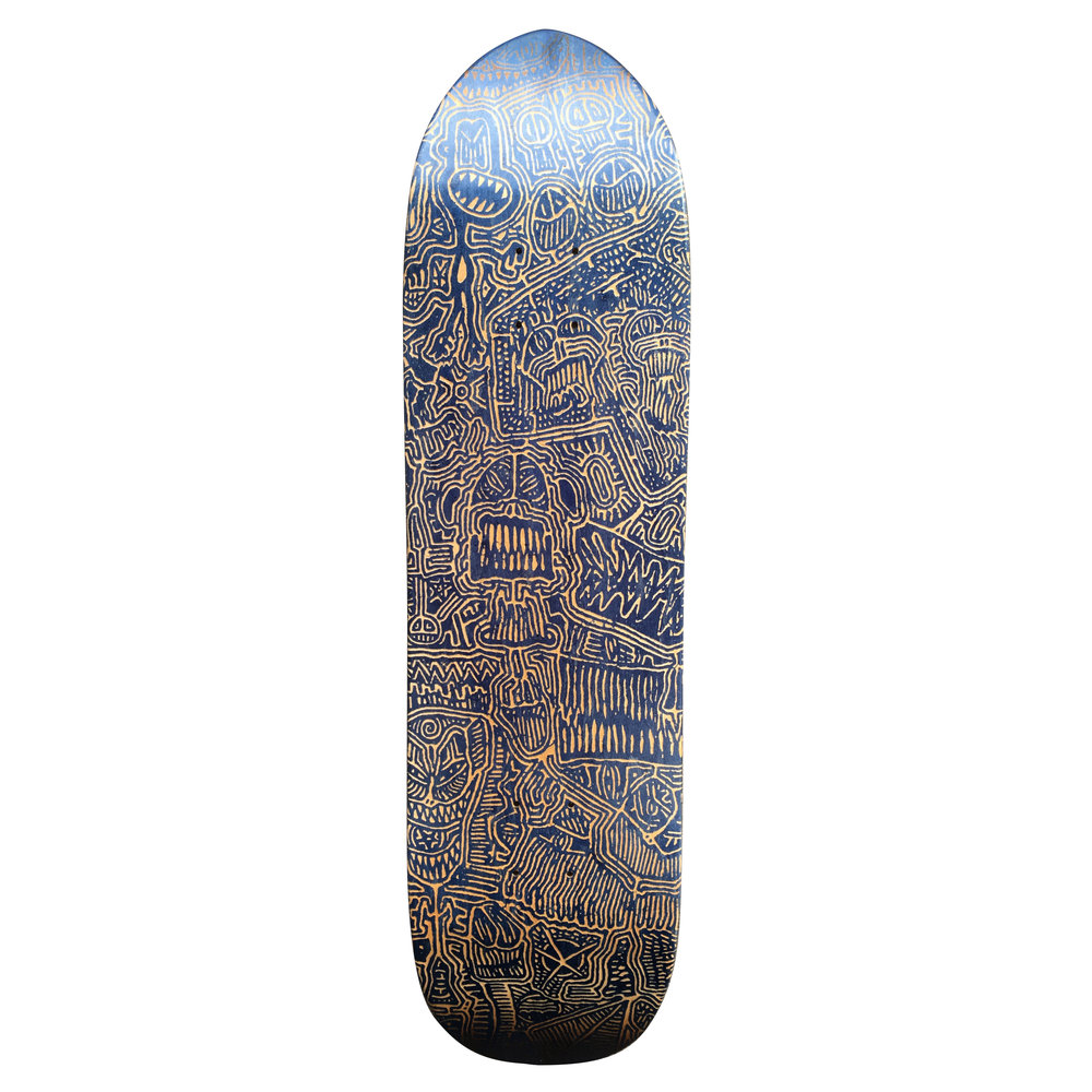 laser engraved skateboard ddash