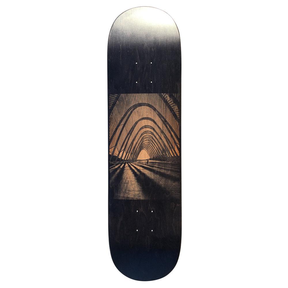 laser engraved skateboard luca werner