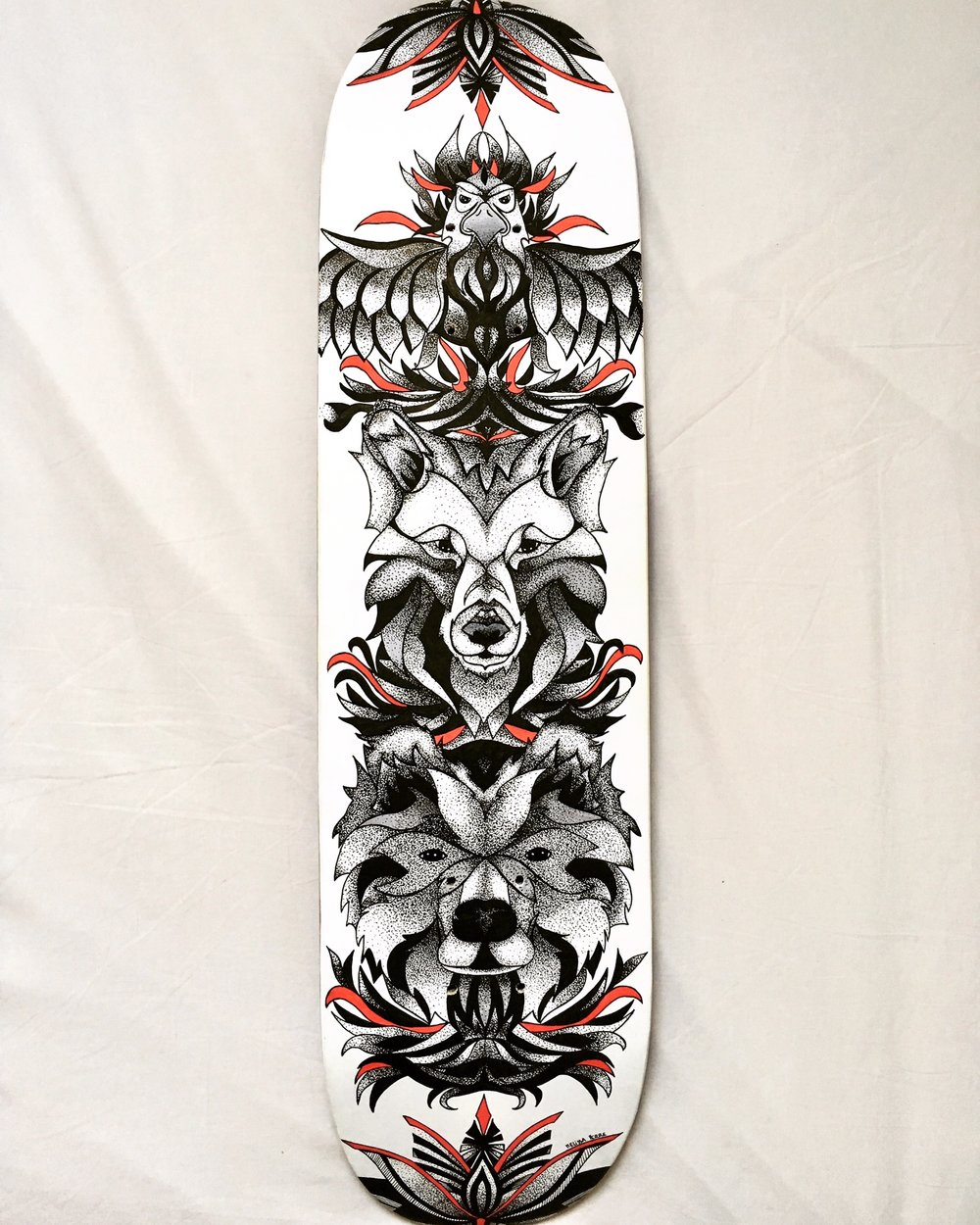 Custom skateboard by Melissa Perre