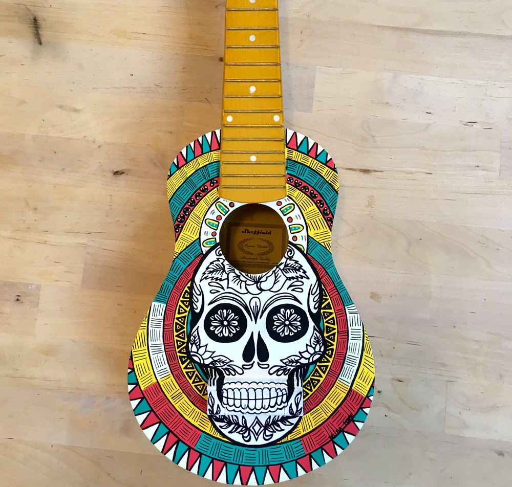 Custom guitar by Melissa Perre - le custom corner